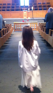 Acolyte bringing the Light into the service